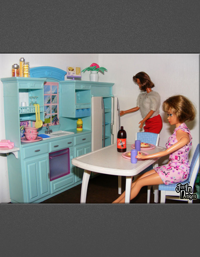 design a barbie doll house using a recycled dresser